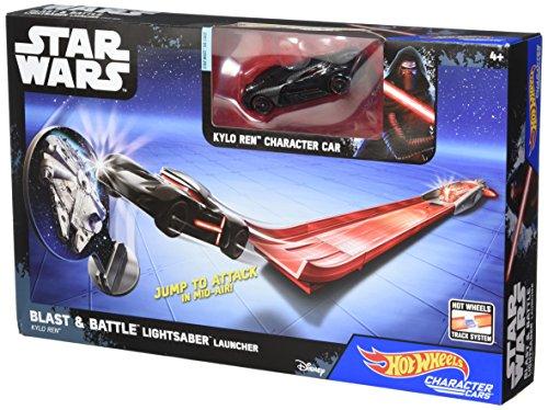 ホットウィール マテル ミニカー ホットウイール 【送料無料】Hot Wheels Star Wars Blast & Battle Lightsaber Launcher Kylo Ren Vehicleホットウィール マテル ミニカー ホットウイール