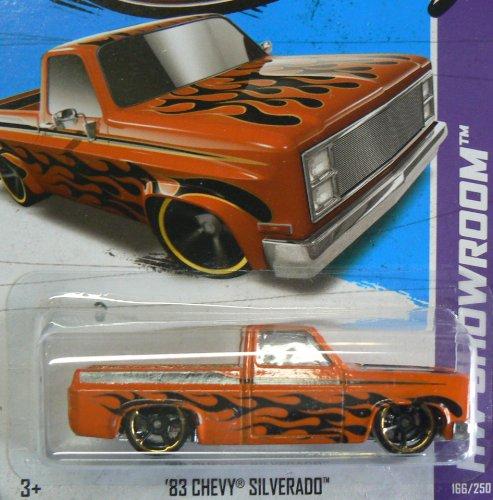ホットウィール マテル ミニカー ホットウイール 【送料無料】Hot Wheels HW Showroom 166/250 '83 Chevy Silverado Orange with Black Flamesホットウィール マテル ミニカー ホットウイール