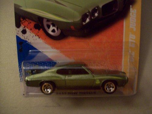 ホットウィール マテル ミニカー ホットウイール Hot Wheels 2011 New Models Green 1970 Pontiac GTO Judgeホットウィール マテル ミニカー ホットウイール