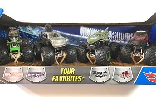 ホットウィール マテル ミニカー ホットウイール 【送料無料】Hot Wheels Monster Jam Tour Favoritesホットウィール マテル ミニカー ホットウイール