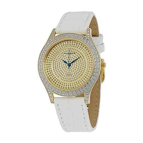 アクリボスXXIV 腕時計 レディース 【送料無料】Akribos XXIV Brillianaire Ladies Watch AK464YGアクリボスXXIV 腕時計 レディース