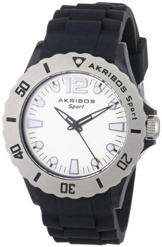 アクリボスXXIV 腕時計 レディース 【送料無料】Akribos XXIV Women's AK536BK Essential Luminous Quartz Silicon Strap WatchアクリボスXXIV 腕時計 レディース