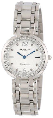 アクリボスXXIV 腕時計 レディース 【送料無料】Akribos XXIV Women's AK513SS Stainless Steel Diamond Bracelet WatchアクリボスXXIV 腕時計 レディース