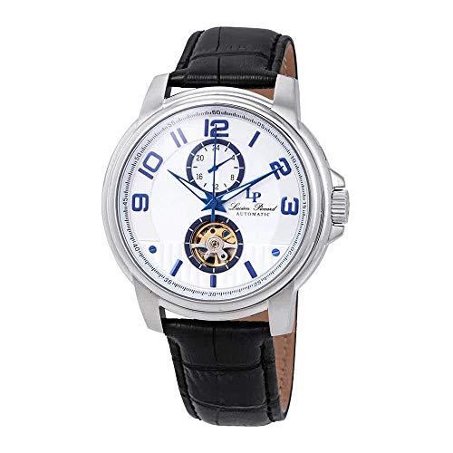 ルシアンピカール 腕時計 メンズ 【送料無料】Lucien Piccard Open Heart Automatic Silver Dial Men's Watch LP-28001A-02S-BLAルシアンピカール 腕時計 メンズ