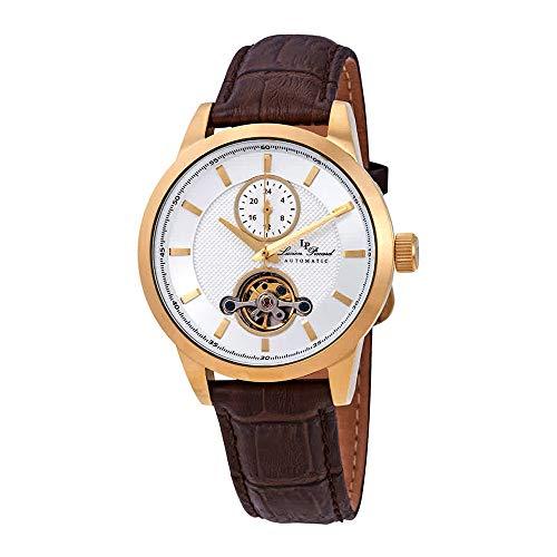 ルシアンピカール 腕時計 メンズ 【送料無料】Lucien Piccard Open Heart GMT Automatic Men's Watch LP-28007A-YG-02SBRWルシアンピカール 腕時計 メンズ