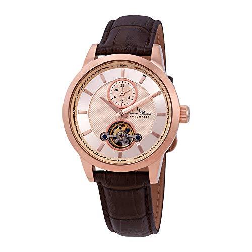 ルシアンピカール 腕時計 メンズ 【送料無料】Lucien Piccard Open Heart GMT Automatic Rose Gold-Tone Dial Men's Watch LP-28007A-RG-09-BRWルシアンピカール 腕時計 メンズ