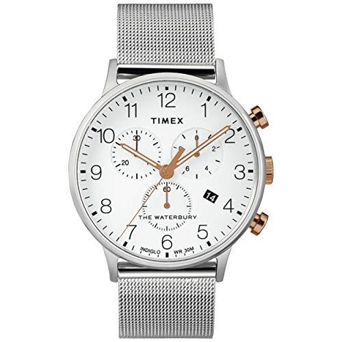 タイメックス 腕時計 メンズ 【送料無料】Timex Waterbury Traditional Day Date Silver/White One Sizeタイメックス 腕時計 メンズ