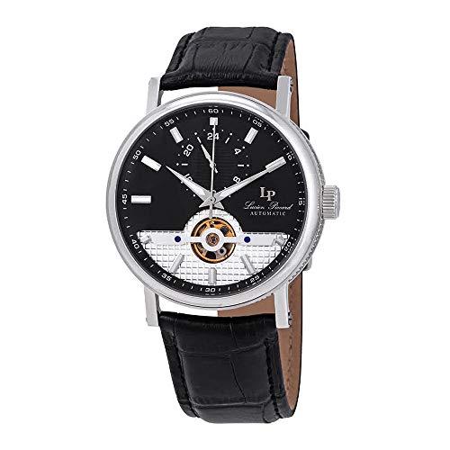 ルシアンピカール 腕時計 メンズ 【送料無料】Lucien Piccard Open Heart 24 Automatic Black Dial Men's Watch LP-28002A-01ルシアンピカール 腕時計 メンズ
