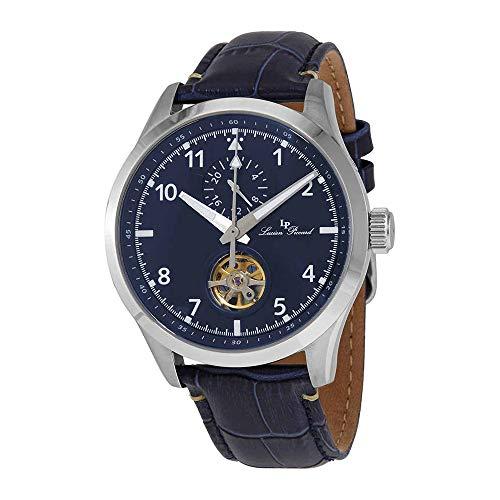 ルシアンピカール 腕時計 メンズ 【送料無料】Lucien Piccard GMT Open Heart Automatic Blue Dial Men's Watch 1295A2ルシアンピカール 腕時計 メンズ