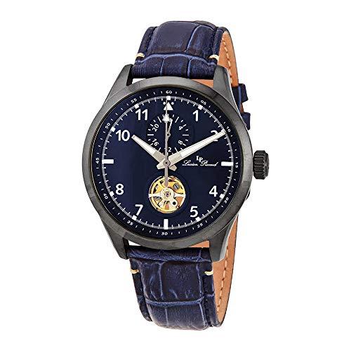 ルシアンピカール 腕時計 メンズ 【送料無料】Lucien Piccard GMT Open Heart Automatic Blue Dial Men's Watch 1295A6ルシアンピカール 腕時計 メンズ
