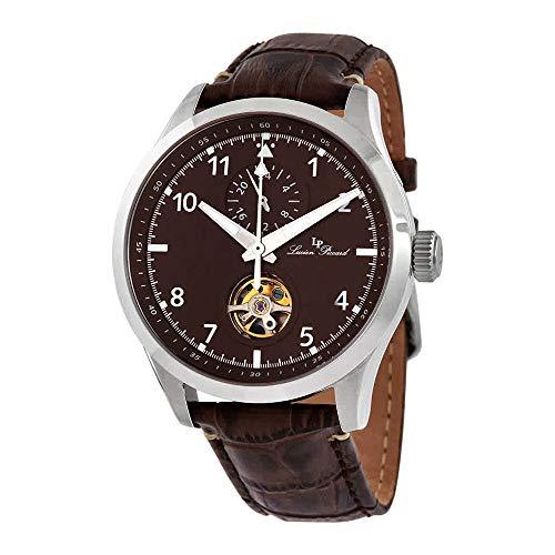 ルシアンピカール 腕時計 メンズ 【送料無料】Lucien Piccard GMT Open Heart Automatic Brown Dial Men's Watch 1295A3ルシアンピカール 腕時計 メンズ
