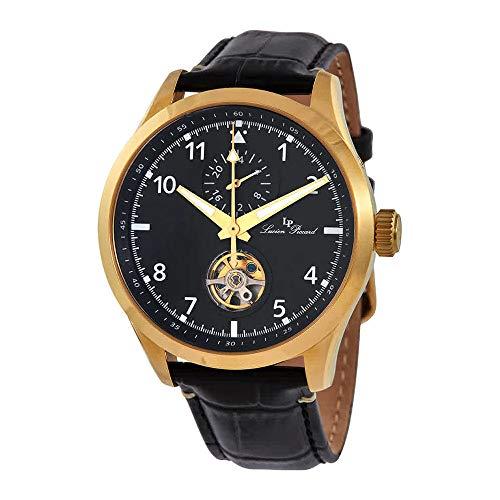 ルシアンピカール 腕時計 メンズ 【送料無料】Lucien Piccard GMT Open Heart Automatic Black Dial Men's Watch 1295A4ルシアンピカール 腕時計 メンズ