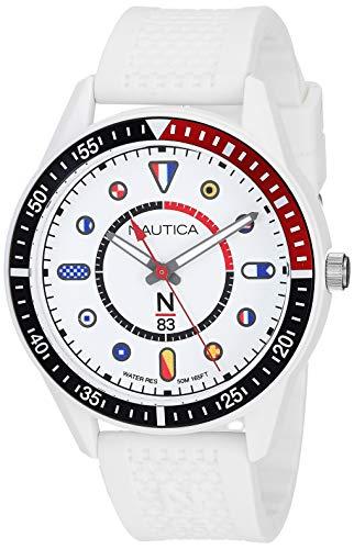 ノーティカ 腕時計 メンズ 【送料無料】Nautica N83 Men's NAPSPS905 Surf Park White/Black Silicone Strap Watchノーティカ 腕時計 メンズ
