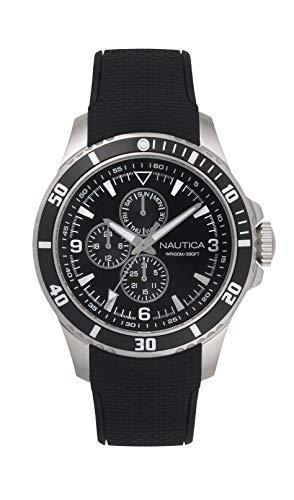 ノーティカ 腕時計 メンズ 【送料無料】Nautica Men's NAPFRB020 Freeboard Multifunction Black/Silver Silicone Strap Watchノーティカ 腕時計 メンズ