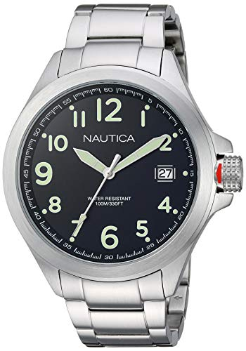 ノーティカ 腕時計 メンズ 【送料無料】Nautica Men's Glen Park Japanese-Quartz Stainless-Steel Strap, Silver, 20.1 Casual Watch (Model: NAPGLP005ノーティカ 腕時計 メンズ
