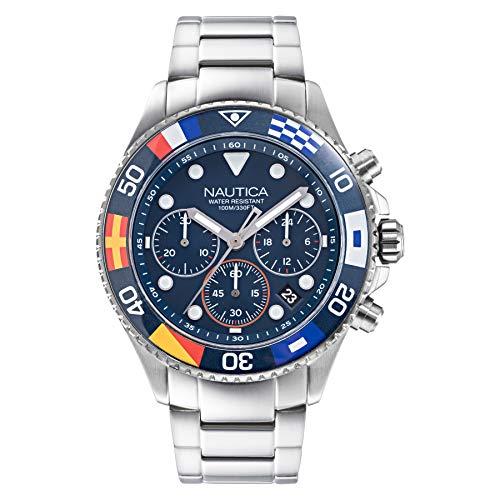 ノーティカ 腕時計 メンズ 【送料無料】Nautica Men's NAPWPF909 Wesport Silver/Navy Stainless Steel Bracelet Watchノーティカ 腕時計 メンズ
