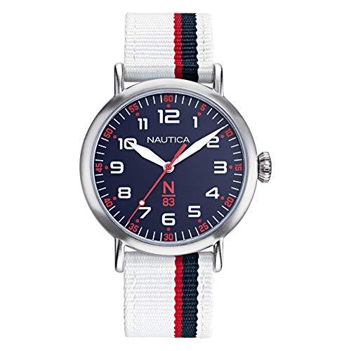 ノーティカ 腕時計 レディース 【送料無料】Nautica N83 Ladies NAPWLA902 Wakeland White/Navy Fabric Strap Watchノーティカ 腕時計 レディース