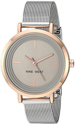 ナインウェスト 腕時計 レディース 【送料無料】Nine West Women's Rose Gold-Tone and Silver-Tone Mesh Bracelet Watch, NW/2321TPRTナインウェスト 腕時計 レディース