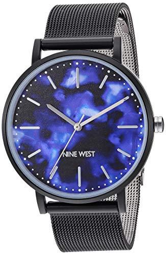 ナインウェスト 腕時計 レディース 【送料無料】Nine West Women's Black Mesh Bracelet Watch, NW/2395PRBKナインウェスト 腕時計 レディース