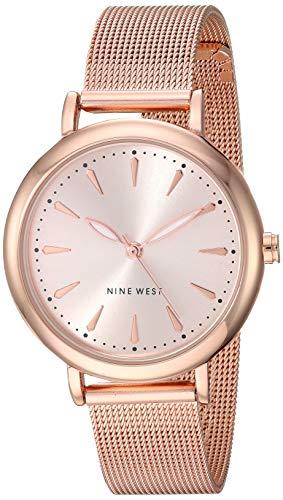 ナインウェスト 腕時計 レディース 【送料無料】Nine West Women's Rose Gold-Tone Mesh Bracelet Watch, NW/2392RGRGナインウェスト 腕時計 レディース