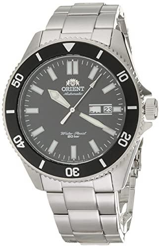 """オリエント 腕時計 メンズ 【送料無料】Orient RA-AA0008B Men""""s Kano Stainless Steel Black Bezel Black Dial Automatic Dive Watchオリエント 腕時計 メンズ"""
