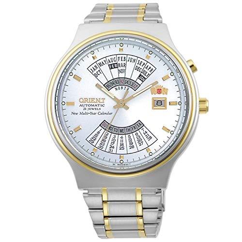 オリエント 腕時計 メンズ 【送料無料】Orient Perpetual Calendar World Time Automatic White Dial Men's Watch FEU00000WWオリエント 腕時計 メンズ