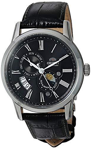 腕時計 オリエント メンズ 【送料無料】Orient FAK00004B Men's Sun and Moon Version 3 Multifunction Leather Band Automatic Watch腕時計 オリエント メンズ
