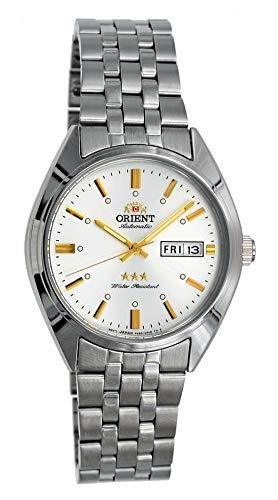 腕時計 オリエント メンズ 【送料無料】Orient RA-AB0E10S Men's 3 Star Stainless Steel Silver Dial Day Date Automatic Watch腕時計 オリエント メンズ