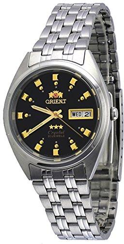 オリエント 腕時計 メンズ 【送料無料】Orient FAB00009B Men's 3 Star Stainless Steel Black Dial Self Wind Automatic Watchオリエント 腕時計 メンズ