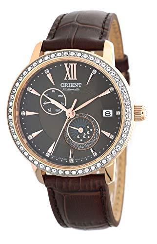 オリエント 腕時計 レディース 【送料無料】ORIENT Ladies Swarovski Automatic 'Sun and Moon' Brown Dial Rose Gold Watch RA-AK0005Yオリエント 腕時計 レディース