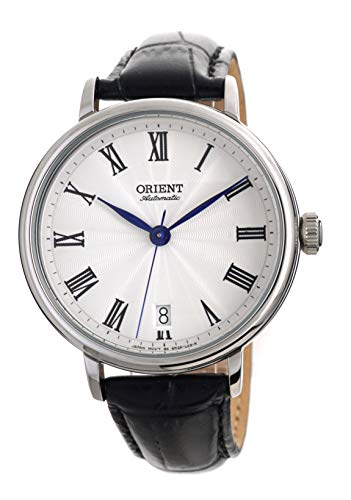 オリエント 腕時計 レディース 【送料無料】Orient Ladies Classic Automatic Guilloche Roman White Dial Blue Hands with Black Leather Watch ER2K004Wオリエント 腕時計 レディース