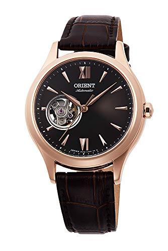 腕時計 オリエント レディース 【送料無料】Orient Ladies Elegant Collection Open Heart Rose Gold Watch with Brown Dial RA-AG0023Y腕時計 オリエント レディース