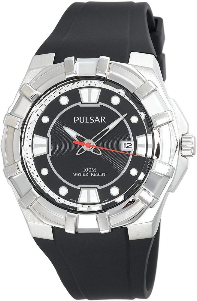 パルサー SEIKO セイコー 腕時計 メンズ 【送料無料】Pulsar Men's PXH633 Sport Silver-Tone Black Resin Strap Watchパルサー SEIKO セイコー 腕時計 メンズ
