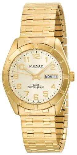 パルサー SEIKO セイコー 腕時計 メンズ Pulsar Men's PXN150 Expansion-Band Black Dial Gold-Tone Watchパルサー SEIKO セイコー 腕時計 メンズ