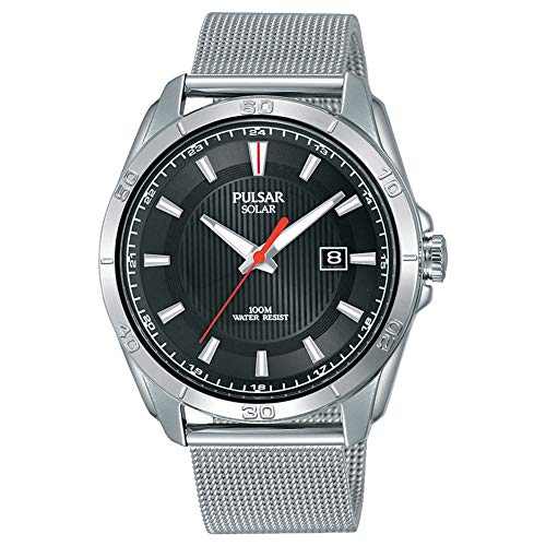 腕時計 パルサー SEIKO セイコー メンズ 【送料無料】Pulsar PX3171X1 Gents Stainless Steel Solar Powered Watch on Mesh Bracelet with Date, 100m Water Resistant …腕時計 パルサー SEIKO セイコー メンズ