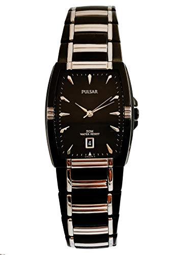 パルサー SEIKO セイコー 腕時計 メンズ 【送料無料】Pulsar Men's PG8115 Dress Sport Black Ion Silver-Tone Watchパルサー SEIKO セイコー 腕時計 メンズ