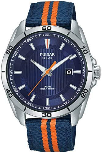 パルサー SEIKO セイコー 腕時計 メンズ 【送料無料】Pulsar Active Mens Analog Solar Watch with Nylon Bracelet PX3175X1パルサー SEIKO セイコー 腕時計 メンズ