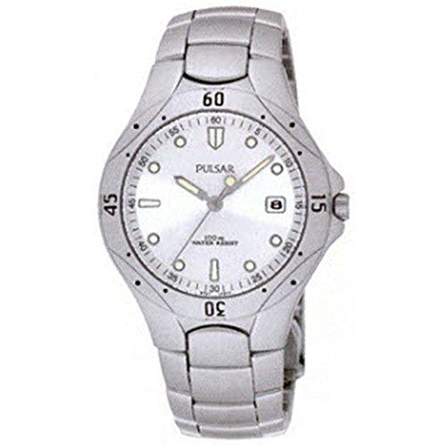 パルサー SEIKO セイコー 腕時計 メンズ 【送料無料】Men's Stainless Steel Sport Watch White Dialパルサー SEIKO セイコー 腕時計 メンズ