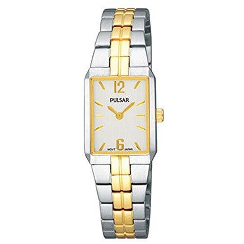 パルサー SEIKO セイコー 腕時計 レディース 【送料無料】Pulsar Women's PTA414 Dress Rectangular Silver Dial Two-Tone Watchパルサー SEIKO セイコー 腕時計 レディース