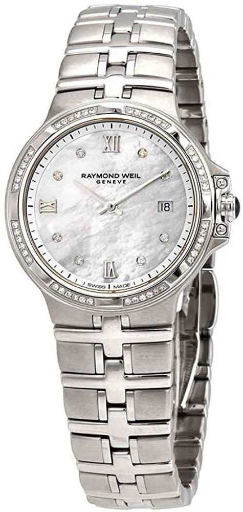 レイモンドウィル 腕時計 レディース スイスの高級腕時計 【送料無料】Raymond Weil Parsifal Diamond White Mother of Pearl Dial Ladies Watch 5180-STS-00995レイモンドウィル 腕時計 レディース スイスの高級腕時計