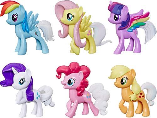 マイリトルポニー ハズブロ hasbro、おしゃれなポニー かわいいポニー ゆめかわいい My Little Pony Toy Rainbow Tail Surprise -- Collection Pack of 6 3-Inch Pony Figures with Coマイリトルポニー ハズブロ hasbro、おしゃれなポニー かわいいポニー ゆめかわいい