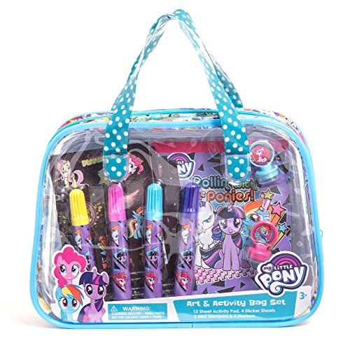 マイリトルポニー ハズブロ hasbro、おしゃれなポニー かわいいポニー ゆめかわいい My Little Pony Children Kids Girls Art and Activity Supplies Bag Set 22pcs Ages 3+マイリトルポニー ハズブロ hasbro、おしゃれなポニー かわいいポニー ゆめかわいい