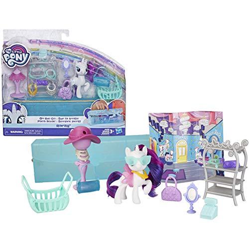 マイリトルポニー ハズブロ hasbro、おしゃれなポニー かわいいポニー ゆめかわいい My Little Pony Toy On-The-Go Rarity -- White 3-Inch Pony Figure with 14 Accessories and Storマイリトルポニー ハズブロ hasbro、おしゃれなポニー かわいいポニー ゆめかわいい