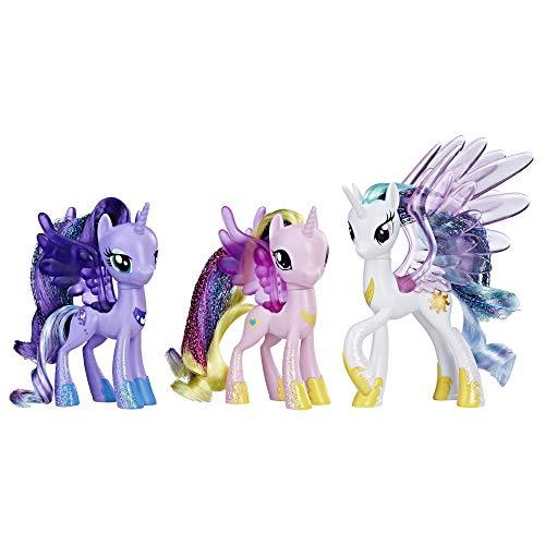 マイリトルポニー ハズブロ hasbro、おしゃれなポニー かわいいポニー ゆめかわいい My Little Pony Princess Celestia, Luna, and Cadance 3 Pack ? 3-Inch Glitter Unicorn Toys Wマイリトルポニー ハズブロ hasbro、おしゃれなポニー かわいいポニー ゆめかわいい