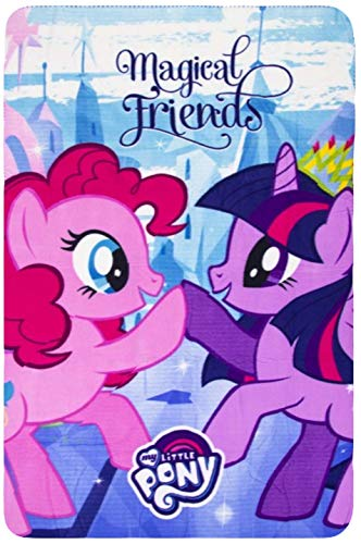 マイリトルポニー ハズブロ hasbro、おしゃれなポニー かわいいポニー ゆめかわいい My Little Pony Kids Fleece Soft Blanket (Blue)マイリトルポニー ハズブロ hasbro、おしゃれなポニー かわいいポニー ゆめかわいい