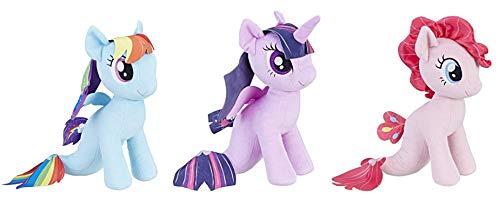 マイリトルポニー ハズブロ hasbro、おしゃれなポニー かわいいポニー ゆめかわいい My Little Pony The Movie Sea-Pony Cuddly Plush (Mermaid Ponies 3-Pack) Rainbow Dash, Pinkie マイリトルポニー ハズブロ hasbro、おしゃれなポニー かわいいポニー ゆめかわいい