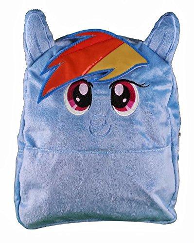 マイリトルポニー ハズブロ hasbro、おしゃれなポニー かわいいポニー ゆめかわいい My Little Pony Small Backpack Rainbow Blue 12