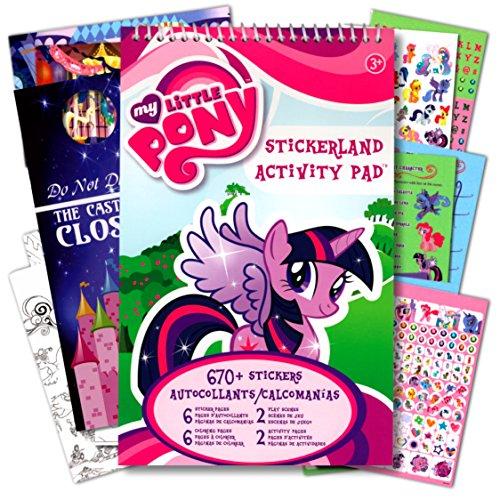 マイリトルポニー ハズブロ hasbro、おしゃれなポニー かわいいポニー ゆめかわいい My Little Pony Stickerland Activity Pad With Over 655 Stickersマイリトルポニー ハズブロ hasbro、おしゃれなポニー かわいいポニー ゆめかわいい