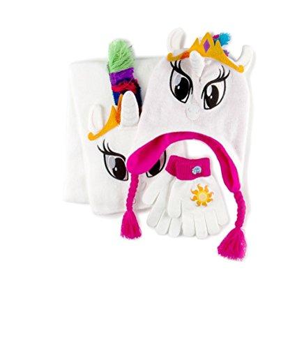 マイリトルポニー ハズブロ hasbro、おしゃれなポニー かわいいポニー ゆめかわいい 【送料無料】My Little Pony Girl Trapper Hat, Scarf and Gloves Set, Princess Celestiaマイリトルポニー ハズブロ hasbro、おしゃれなポニー かわいいポニー ゆめかわいい