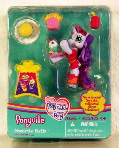 マイリトルポニー ハズブロ hasbro、おしゃれなポニー かわいいポニー ゆめかわいい My Little Pony Ponyville Serve Snacks with Sweetie Belle Figurineマイリトルポニー ハズブロ hasbro、おしゃれなポニー かわいいポニー ゆめかわいい
